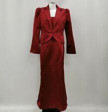 Laura Ashley Dress Suit Womens Size UK 14 Red 100% Silk Formal Wedding 290312