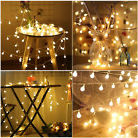 Globe String Lights 5M 50LED Ball Fairy Lights Indoor Outdoor Battery Xmas Decor