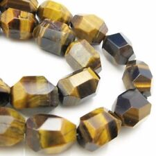 Tiger's Eye Beads -  Faceted Nugget Gemstone Beads 18X14  (sold per strand)