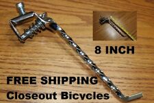 "CHROME TWISTED 8"" KICKSTAND LOWRIDER BICYCLE BIKE"