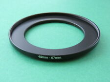 49mm-67mm Stepping Step Up Male-Female Lens Filter Ring Adapter 49mm-67mm