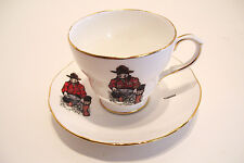 Whitehorse Yukon Tea Cup and Saucer Panning for Gold Made in England Souvenir
