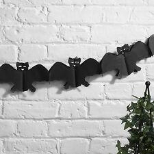 Happy Halloween Paper Party Spooky Black Bat Hanging Garland Decoration 3 Meters