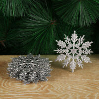 Christmas Tree Decor Festival Decoration Glitter Snowflake Party Ornaments