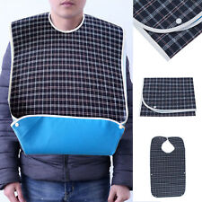 Durable Adult Mealtime Bib Clothes Protector Dining Clothing Washable Wipe Clean