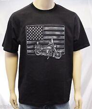 T-Shirt MC BIKE FLAG motif en relief - Taille S - Style BIKER HARLEY