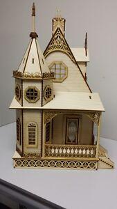 Jasmine Gothic Victorian Cottage Dollhouse 1:24 scale