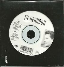 TY HERNDON She Wants to be / before there was  SAMPLER 1997 USA CD single SEALED
