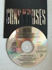 """GUNS N' ROSES, """" LIVE AND LET DIE"""". RARE, LIMITED EDITION 3 TRACK CD EP."""