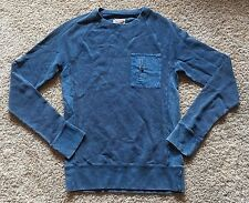 NWT Men's Blue Long Sleeve Mossimo Pullover Top Medium