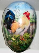 GIGANTIC Easter Egg (13x9x9) BANTAM ROOSTER Mint/Sealed Hand Made in Germany