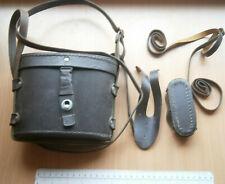 BINOCULARS CASE LEATHER BOX PART ARMY ZRAK SARAJEVO YUGOSLAVIA GERMANY TYPE WW2