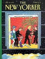 1991 Retail Store Beach Window Display Snow art Jan 21 New Yorker Mag COVER ONLY