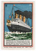 (I.B) Germany Cinderella : Steamship Label Series 4 (Imperator)