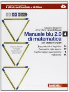 MANUALE DI MATEMATICA BLU VOL.3, 4, 5 BERGAMINI TRIFONE ZANICHELLI