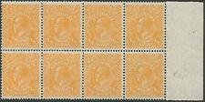 KGV - Small Multi wmk. perf.13.5 x 12.5: 1⁄2d Orange (SG.94) marginal blk.(8)