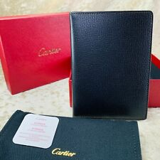 Authentic Cartier Passport Cover Card Holder Black Leather Novelty Item (NEW)