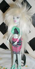 "Doll Wig, Monique Gold ""Starr"" Size 5/6  - White Blonde fits Monster High 11"""