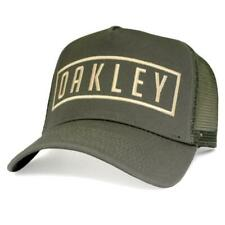 Oakley Max Trucker Adjustable Cap Worn Olive Green Mens Snapback Baseball Hat