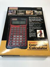 Craftsman Professional Construction Calculator 39785 w/ Case and Manual