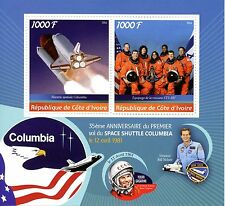 Ivory Coast 2016 MNH Space Shuttle Columbia First Flight 35th Ann 2v M/S Stamps