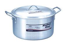 "Aluminium Saucepan Cooking Stock Pot Casserole Profession Use 14"" capacity 16Ltr"