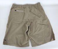 Lululemon Sz 36 Shorts Beige Tan Solid Casual Athletic Stretch Waist Lightweight