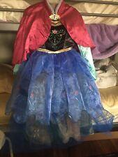 Disney Store Frozen Anna Traveling Dress Costume Girls 9/10