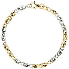 5,2 mm Armband 585 Gold Armkette 19 cm Gelbgold Weißgold glänzend bicolor Damen