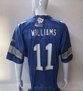 Detroit Lions #11 Roy Williams Blue NFL Reebok On Field Jersey - NWT - Size LG.