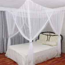 4 Corners Post Bed Canopy Twin Full Queen King Mosquito Net for King White Us