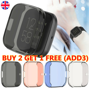Protective Case Full Cover Screen Protector Skin Fit For Fitbit Versa 2 UK Stock
