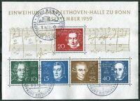 Bund Block Nr. 2 Beethoven gestempelt ESST Bonn Ersttagsstempel Michel 80,00 €