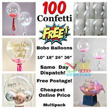 "10"" 18"" 24"" 36"" Clear BOBO Bubble Balloons Transparent Wedding Birthday Party"