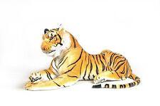 Tigre en peluche  135 cm  Grand tigre couché de Qualité   Très doux et Réaliste