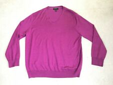 Banana Republic Luxury Blend Silk/Cashmere/Cotton V-Neck Burgundy Sweater Sz XL