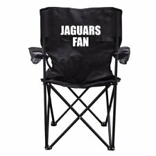 Jaguars Fan Black Folding Camping Chair with Carry Bag