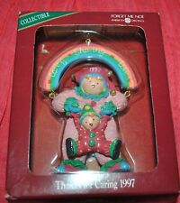NEW American Greetings THANKS for CARING 1997 Clown Mother w/Baby Rainbow