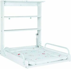 Roba Furniture Nappy Changing Of Baby Of Wooden Flip Wall With Mattress White