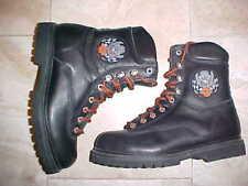 1990's vintage Harley-Davidson Men's Motorcycle Black Leather Steel Toe Boots