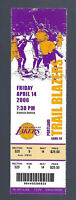 2006 NBA BLAZERS @ LOS ANGELES LAKERS FULL TICKET - KOBE BRYANT SCORES 50  APR14