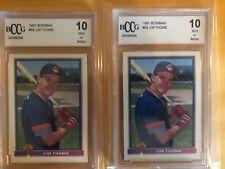 Jim Thome - 2 Card Lot - 1991 Bowman #68 ROOKIE x 2 - Graded BCCG 10 MINT!