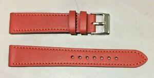 Pulsera Correa de Reloj Piel Legítima Cuero 18 mm Rojo   Watchband 240