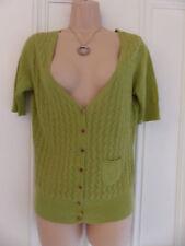 White Stuff size 10 olive green or khaki(?) thin knit, quite open cardigan