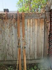 New listing Beautiful Pair of Vintage Northland Wooden Skis & Matching Leather Toped Poles