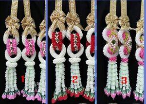 Wedding Garland Steering Wheel Flower Artificial Fabric Thai Wedding Costume Lao