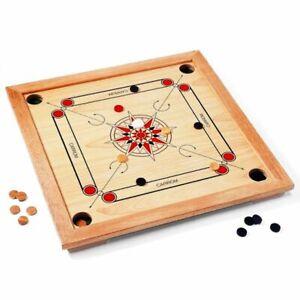 GICO Carrom Board Active Standard 83 cm Spielbrett Komplettset mit Pulver 2.Wahl