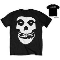 MISFITS Classic Fiend Skull Backprint Mens T Shirt Unisex Official Band Merch