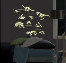 DINOSAURS wall stickers 24 GLOW IN THE DARK decals dino skeleton bones T-Rex