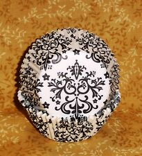 Black/White Damask Cupcake Liners,New,Wilton.75 count,Special Event.415-2354